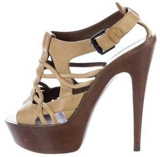 Bottega Veneta Leather Platform Sandals