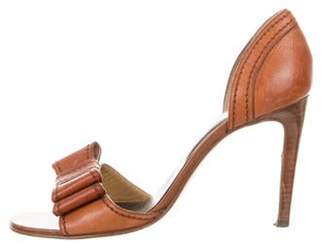 Valentino Leather d'Orsay Sandals Leather d'Orsay Sandals