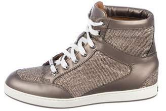Jimmy Choo Glitter High-Top Sneakers