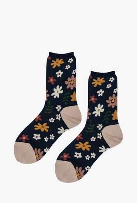 Hansel from Basel 70's Flower Crew Sock