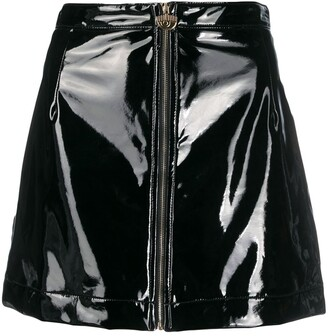 Chiara Ferragni A-line faux leather skirt