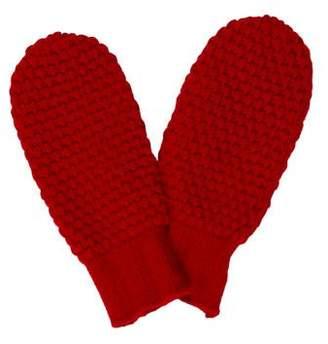 Portolano Rib Knit-Trimmed Mittens w/ Tags