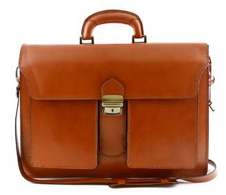 Dream Leather Bags Made in Italy Genuine Leather Genuine Leather Professional Briefcase 3 Compartments And 2 Pockets Color