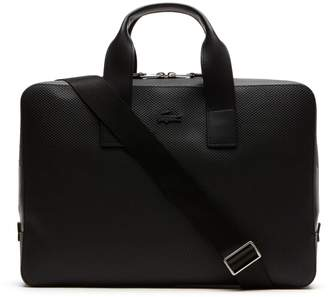 Lacoste Men's Chantaco Matte Pique Leather Computer Bag