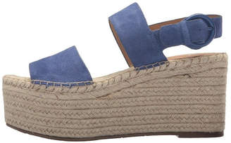 Marc Fisher Blue Espadrille Wedge