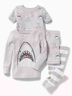 Old Navy Shark-Graphic 4-Piece Sleep Set for Toddler & Baby