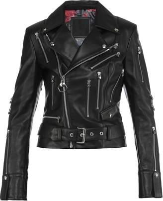 Philipp Plein Leather Biker Stark