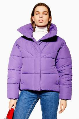 Topshop Womens Wrap Puffer Jacket