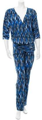 Thakoon Printed Long Sleeve Jumpsuit