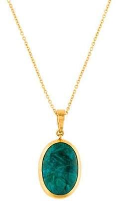 Gurhan Amulet Hue Chrysocolla Pendant Necklace