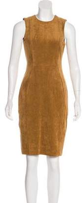 Calvin Klein Faux Suede Knee-Length Dress w/ Tags