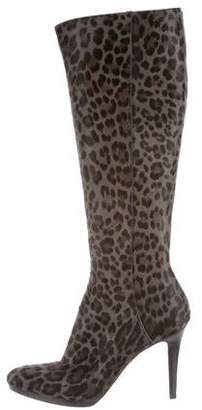 Jimmy Choo Animal Print High-Heel Boots