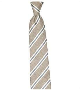 Joe Black 7.5 Cm Stripe Silk/Linen Tie