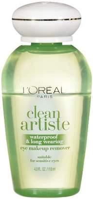 L'Oreal Clean Artiste Waterproof & Long Wearing Eye Makeup Remover - 4.0 Oz, Pack of 3