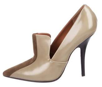 Celine Patent Leather Pointed-Toe Pumps