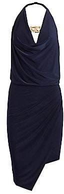 HANEY Women's Sleeveless Cowlneck Wrap Dress - Size 0