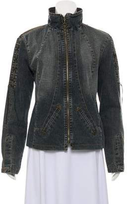 Just Cavalli Denim Zip-Up Jacket