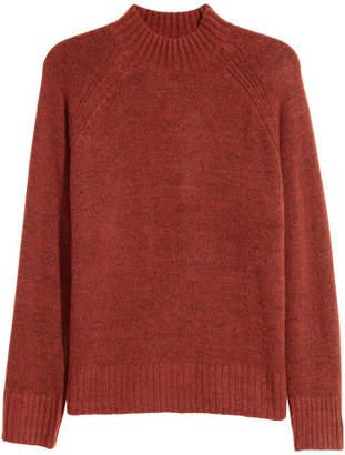 H&M Knit Mock Turtleneck Sweater - Orange