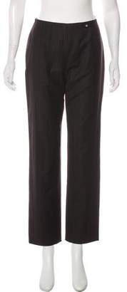 Chanel Wool & Cashmere High-Rise Pants