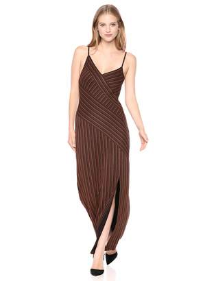BCBGMAXAZRIA Azria Women's Asymmetric Stripe Long Dress