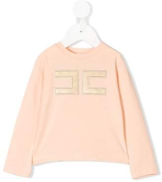Elisabetta Franchi La Mia Bambina logo embellished sweatshirt
