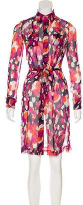 Diane von Furstenberg Calzare Printed Silk Dress