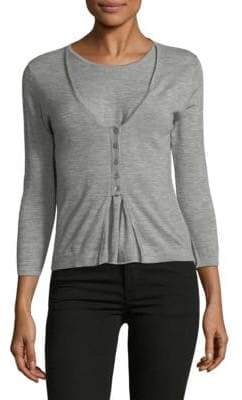 Autumn Cashmere Layered Cardigan Cashmere Top