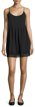 Soft Joie Vadim Sleeveless Cotton Shift Dress, Black $188 thestylecure.com