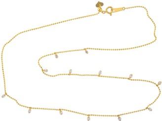 Artisan Gold Beaded Chain With Diamonds