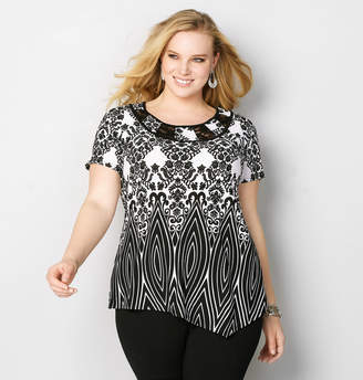 Avenue Scroll Lace Inset Top