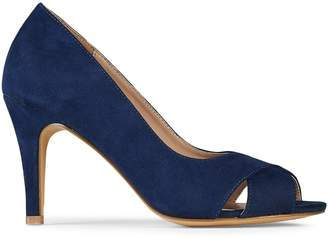 2a2c99f4f90d Dorothy Perkins Womens Wide Fit Navy Faux Suede  Clovers  Court Shoes