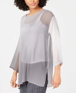 Eileen Fisher Silk Bracelet-Sleeve Tunic, Regular & Petite