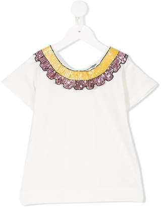 Miss Grant Kids embellished collar top