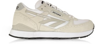 Hi-Tec Silver Shadow White Mesh and Cool Grey Suede Unisex Trainers