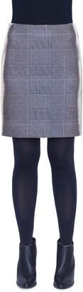 Akris Punto Metallic Glen Plaid Miniskirt
