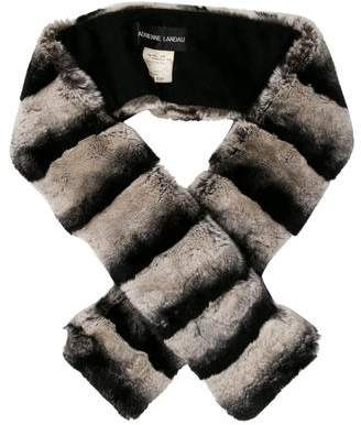 Adrienne Landau Striped Fur Stole