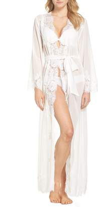 Helena Homebodii Long Chiffon & Lace Wrap