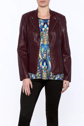 Kut from the Kloth Burgundy Jacket $102 thestylecure.com