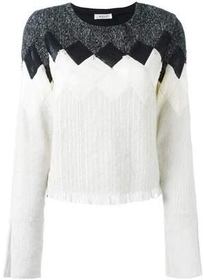 Aviu geometric pattern knitted blouse