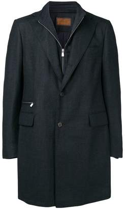 Corneliani zipped single-breasted coat