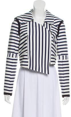 Tanya Taylor Asymmetric Stripe Jacket