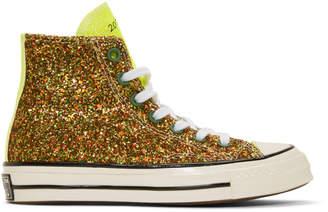 J.W.Anderson Green Converse Edition Glitter Chuck 70 High Sneakers