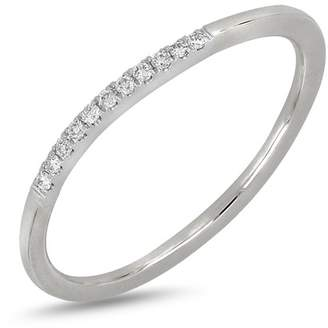 Bony Levy 18K White Gold Pave Diamond Detail Ring - 0.05 ctw