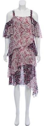Rebecca Minkoff Floral Printed Cold-Shoulder Dress