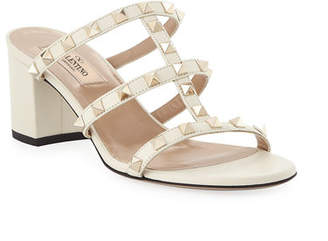 Valentino Rockstud Caged 60mm Slide Sandals