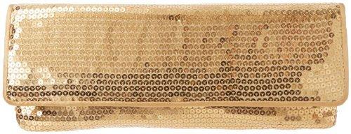 La Regale Full Sequin Slip Piped Clutch