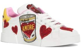 Dolce & Gabbana Amore Lace-Up Sneaker