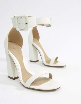 Missguided Buckle Detail Heeled Sandal