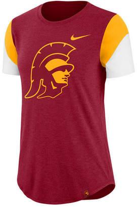 Nike Women's Usc Trojans Tri-Blend Fan T-Shirt