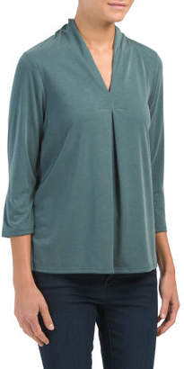 Made In Usa Inverted Pleat Top